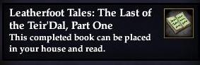Leatherfoot Tales: The Last of the Teir'Dal, Part One