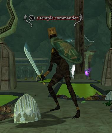 A temple commander