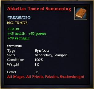 Ahketian Tome of Summoning