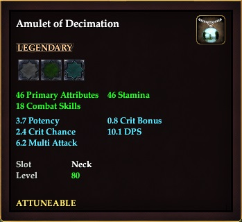 Amulet of Decimation (Level 80)