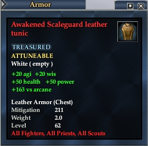 Awakened Scaleguard leather tunic