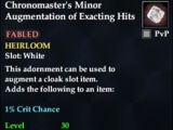 Chronomaster's Minor Augmentation of Exacting Hits