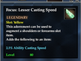 Focus: Lesser Casting Speed