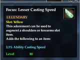 Focus: Lesser Casting Speed