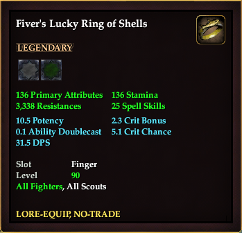 Fiver's Lucky Ring of Shells