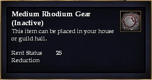 Medium Rhodium Gear (Inactive)