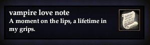 Vampire love note