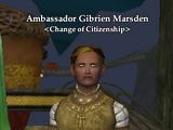 Ambassador Gibrien Marsden