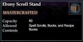 Ebony Scroll Stand