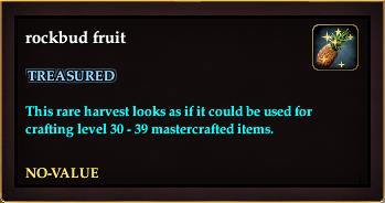 Rockbud fruit