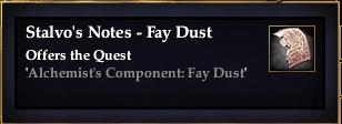 Stalvo's Notes - Fay Dust