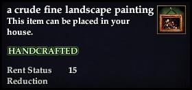 A crude fine landscape painting