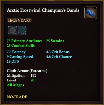Arctic Frostwind Champion's Bands