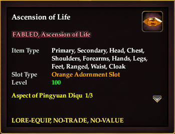 Ascension of Life (Orange, no-trade)