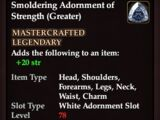 Smoldering Adornment of Strength (Greater)