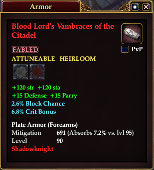Blood Lord's Vambraces of the Citadel