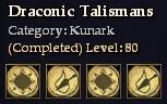 Draconic Talismans