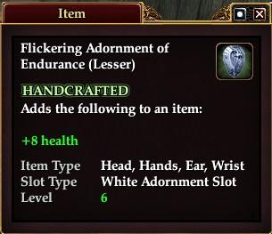 Flickering Adornment of Endurance (Lesser)