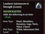 Lambent Adornment of Strength (Lesser)