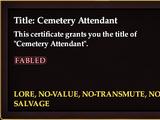 Title: Cemetery Attendant