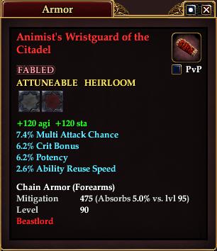Animist's Wristguard of the Citadel