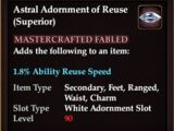 Astral Adornment of Reuse (Superior)