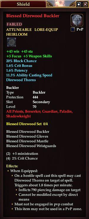 Blessed Direwood Buckler (Version 1)