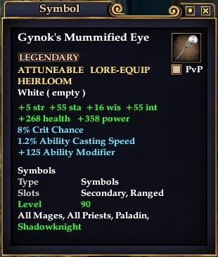 Gynok's Mummified Eye