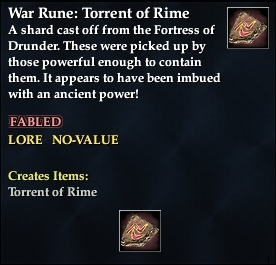 War Rune: Torrent of Rime