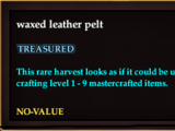 Waxed leather pelt (Version 1)