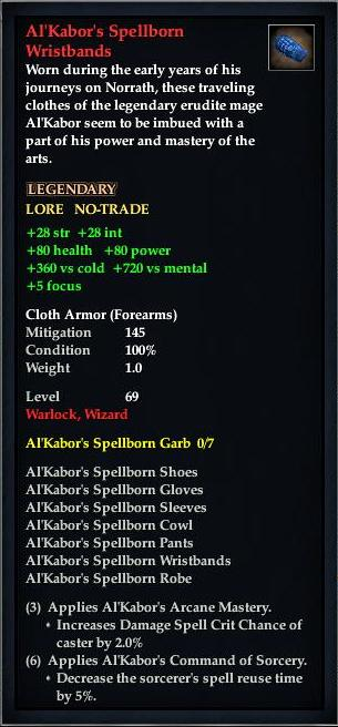 Al'Kabor's Spellborn Wristbands (Version 1)