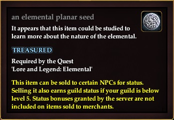 An elemental planar seed