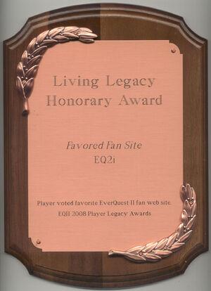 EQ2i FanFaire 2008 award.jpg