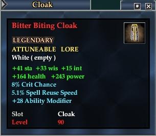 Bitter Biting Cloak