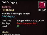 Dain's Legacy