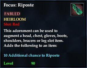 Focus: Riposte (yellow)