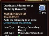 Luminous Adornment of Mending (Greater)