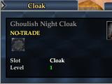Ghoulish Night Cloak