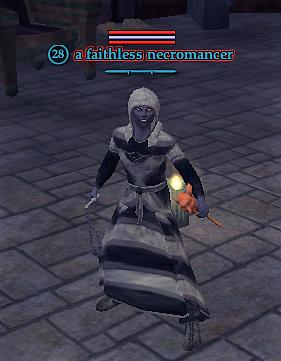 A faithless necromancer