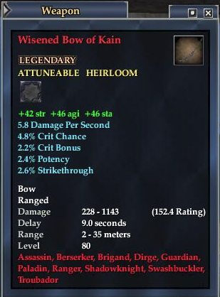 Wisened Bow of Kain