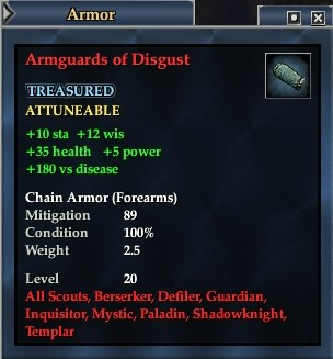 Armguards of Disgust