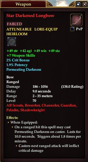 Star Darkened Longbow (Version 1)
