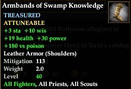 Armbands of Swamp Knowledge