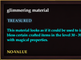 Glimmering material