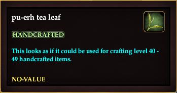 Pu-erh tea leaf (Crate Reward)