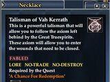 Talisman of Vah Kerrath