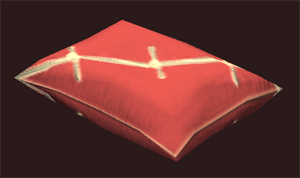 Patterned Red Pillow