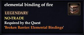 Elemental binding of fire