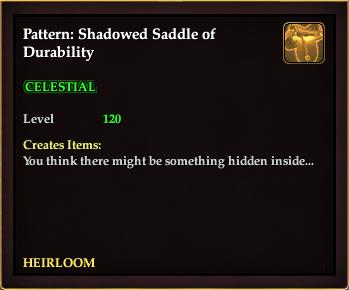 Pattern: Shadowed Saddle of Durability