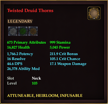 Twisted Druid Thorns